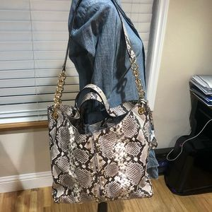 Michael Kors studded leather bag  like new